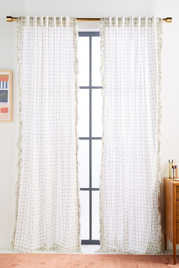Slide View: 1: Fringed Ilana Curtain