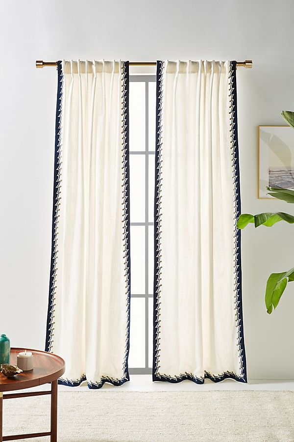 Slide View: 1: Ina Embroidered Curtain