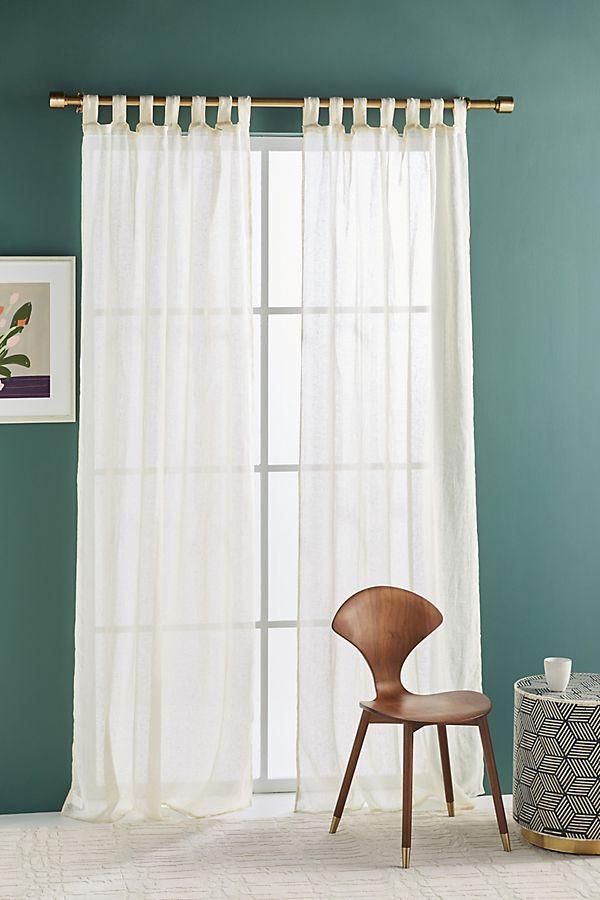 Slide View: 1: Gauzy Linen Curtain