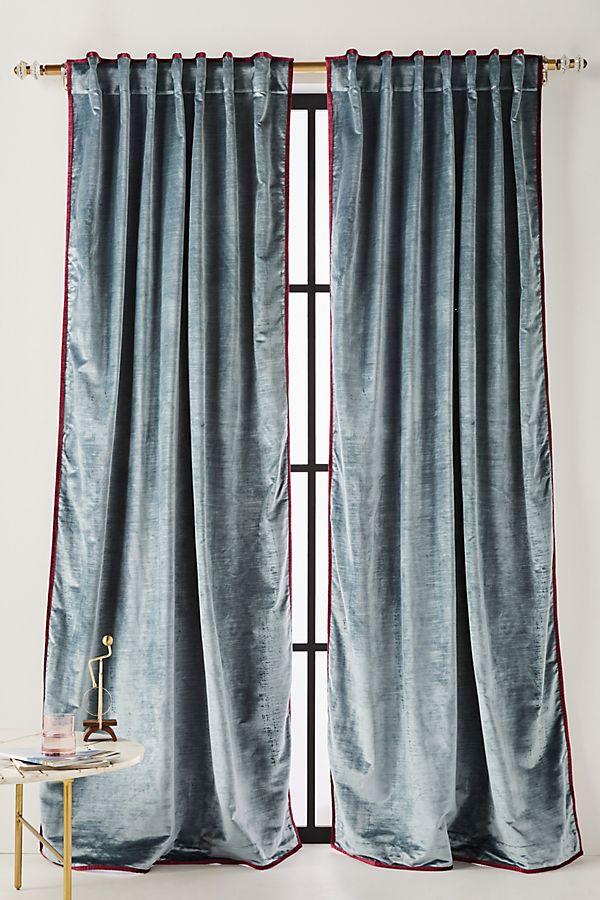 Set Of 2 Petra Velvet Curtains, How To Clean Cotton Velvet Curtains