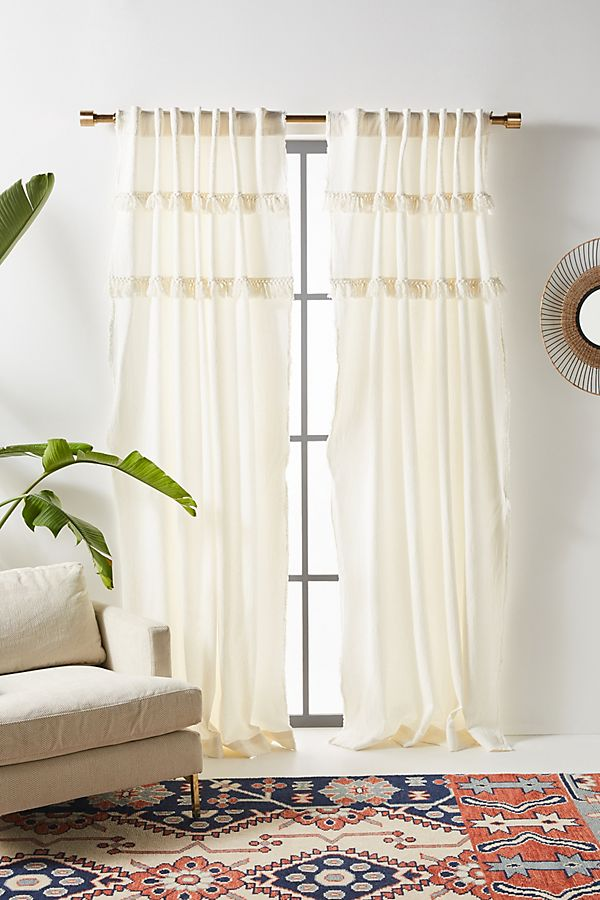 Slide View: 1: Tasseled Cassie Curtain