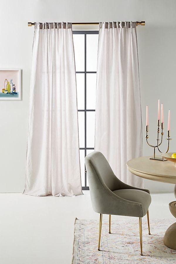 Slide View: 1: Cotton-Linen Tessa Curtains, Set of 2