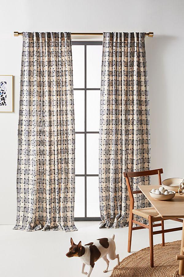 Slide View: 1: Ezra Plaid Curtain