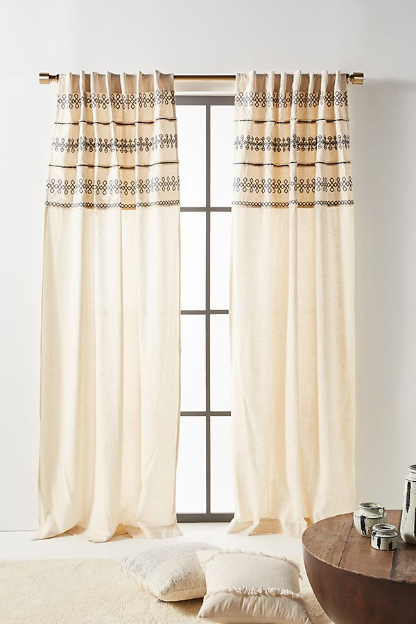 Slide View: 1: Embellished Mischa Curtain