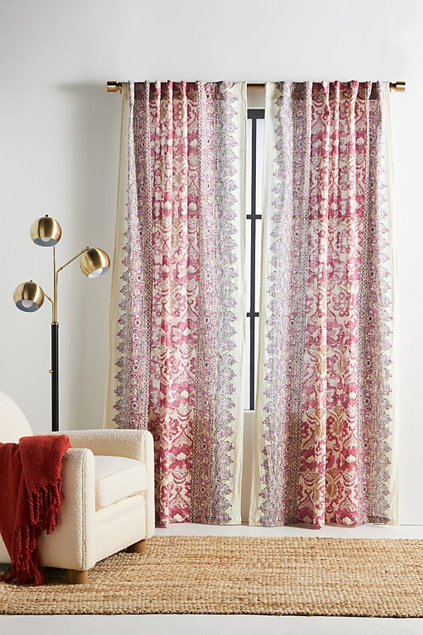 Za Patterned Curtain Anthropologie Uk, Sheer Patterned Curtains Uk