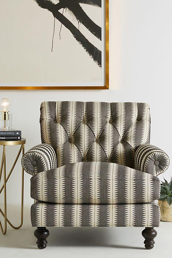 Phenomenal Suren Striped Fan Pleat Chair Andrewgaddart Wooden Chair Designs For Living Room Andrewgaddartcom