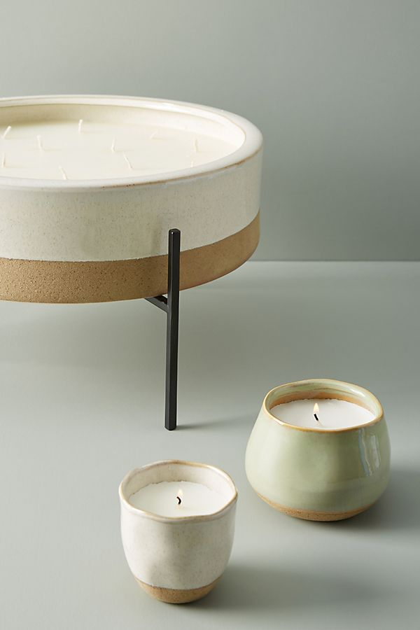 Slide View: 2: Dip-Dyed Ceramic Candle