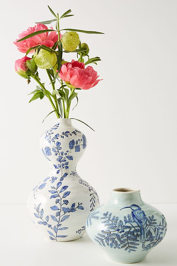 Slide View: 1: Lisa Ringwood Flora Ceramic Vase