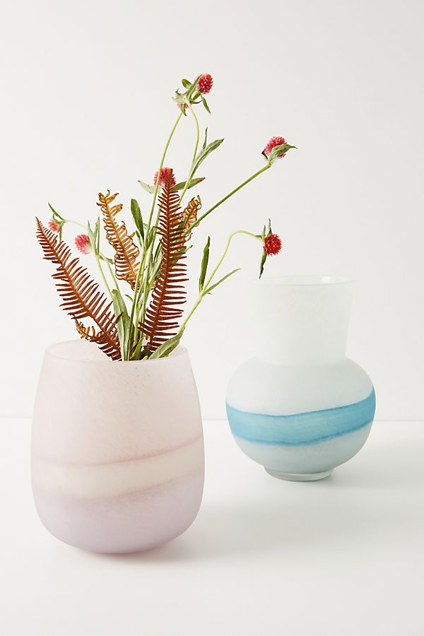 Slide View: 1: Dipped Glass Vase
