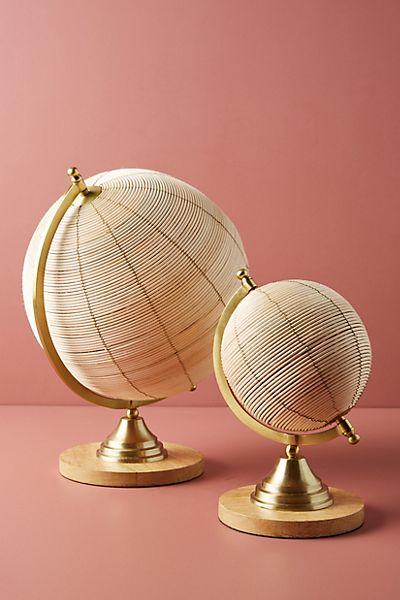 Rattan Globe Decorative Object