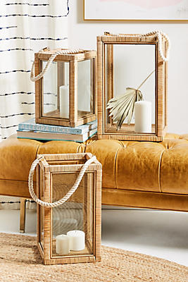 Issa Rattan Lantern by Anthropologie