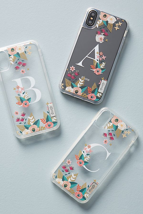 58eba934980e4 Casetify Floral Monogram iPhone X Case