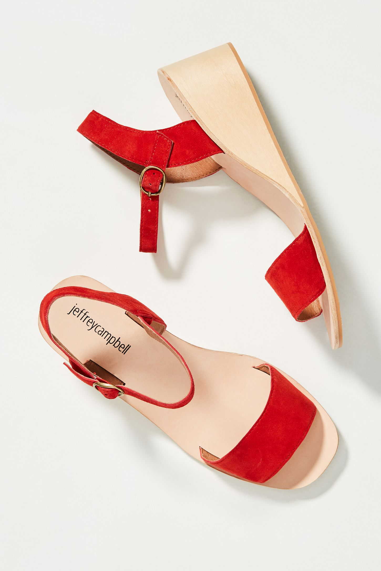 b77908db78b Jeffrey Campbell Brook Wooden Wedge Sandals. Tap image to zoom. Hover your  mouse over an image to zoom. Double Tap to Zoom