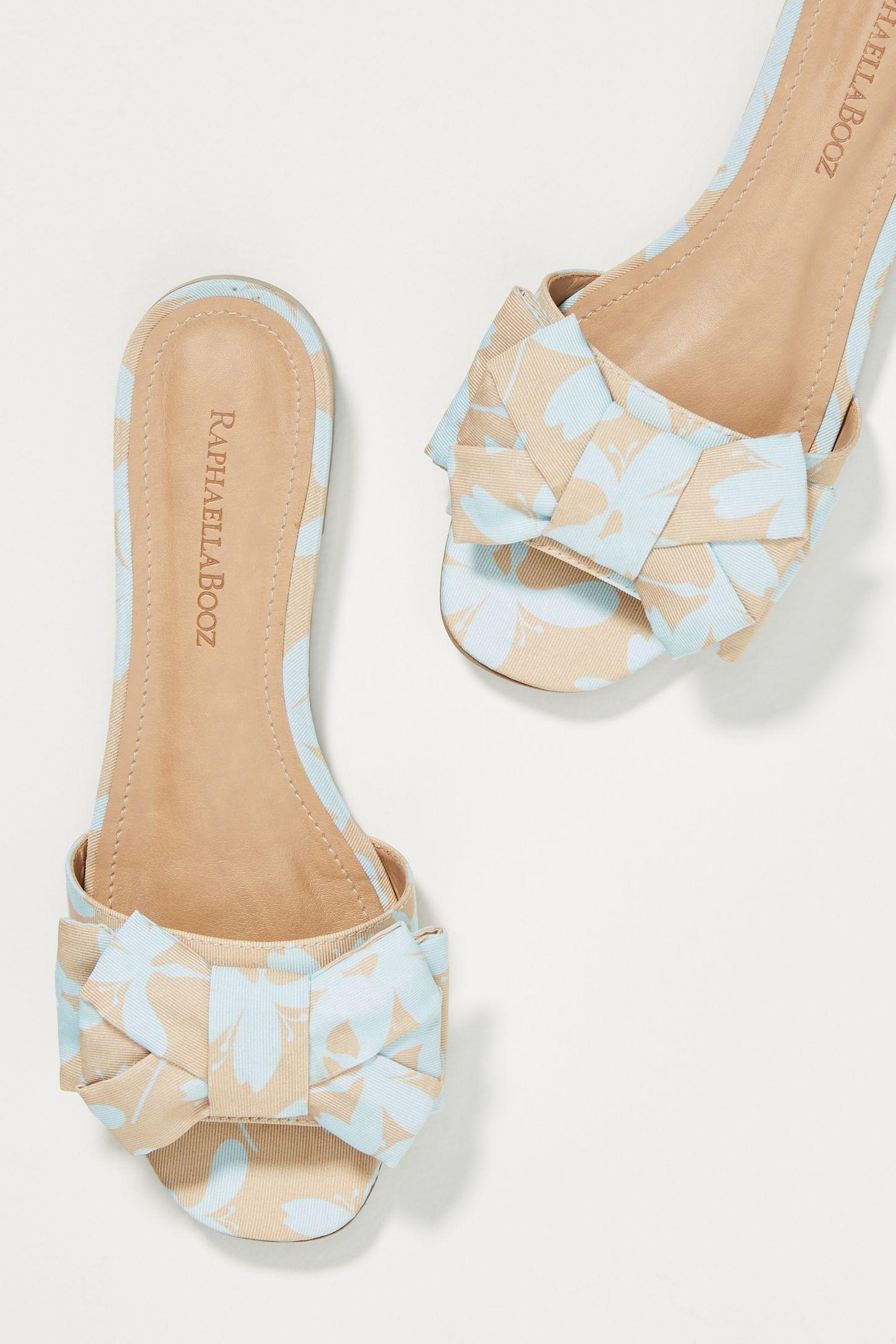 eb779588044b Raphaella Booz Bow-Front Slide Sandals
