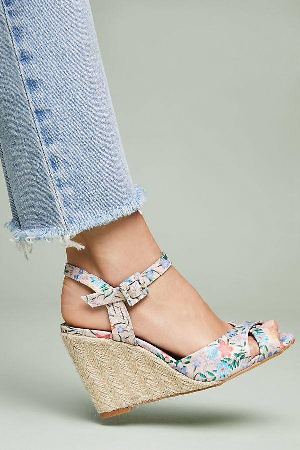 78caf51a5e1 Raphaella Booz Floral Wedge Sandals