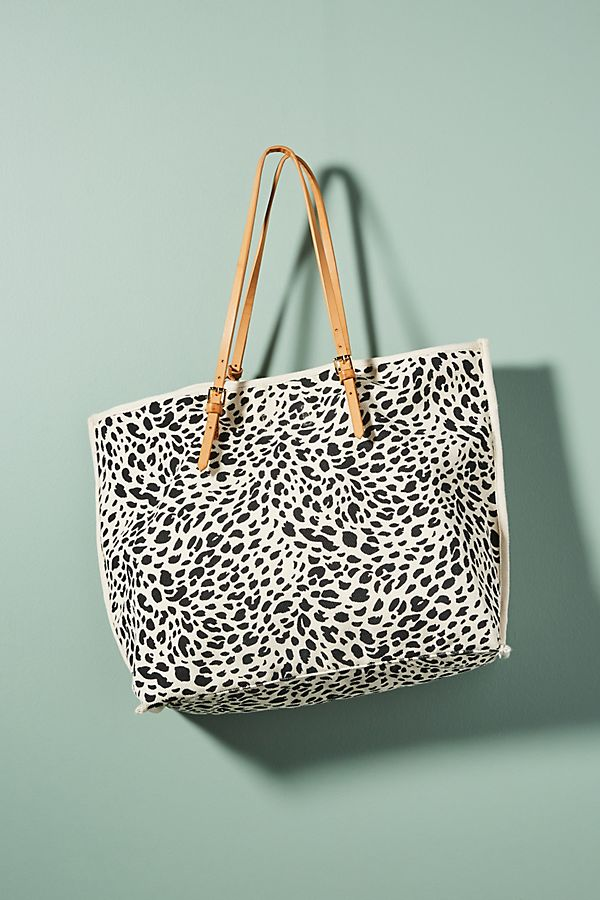 Leopard Printed Tote Bag Anthropologie Uk