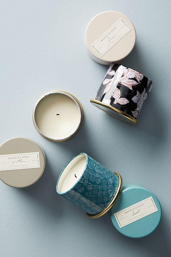 Slide View: 2: Magnolia Home Mini Tin Candle