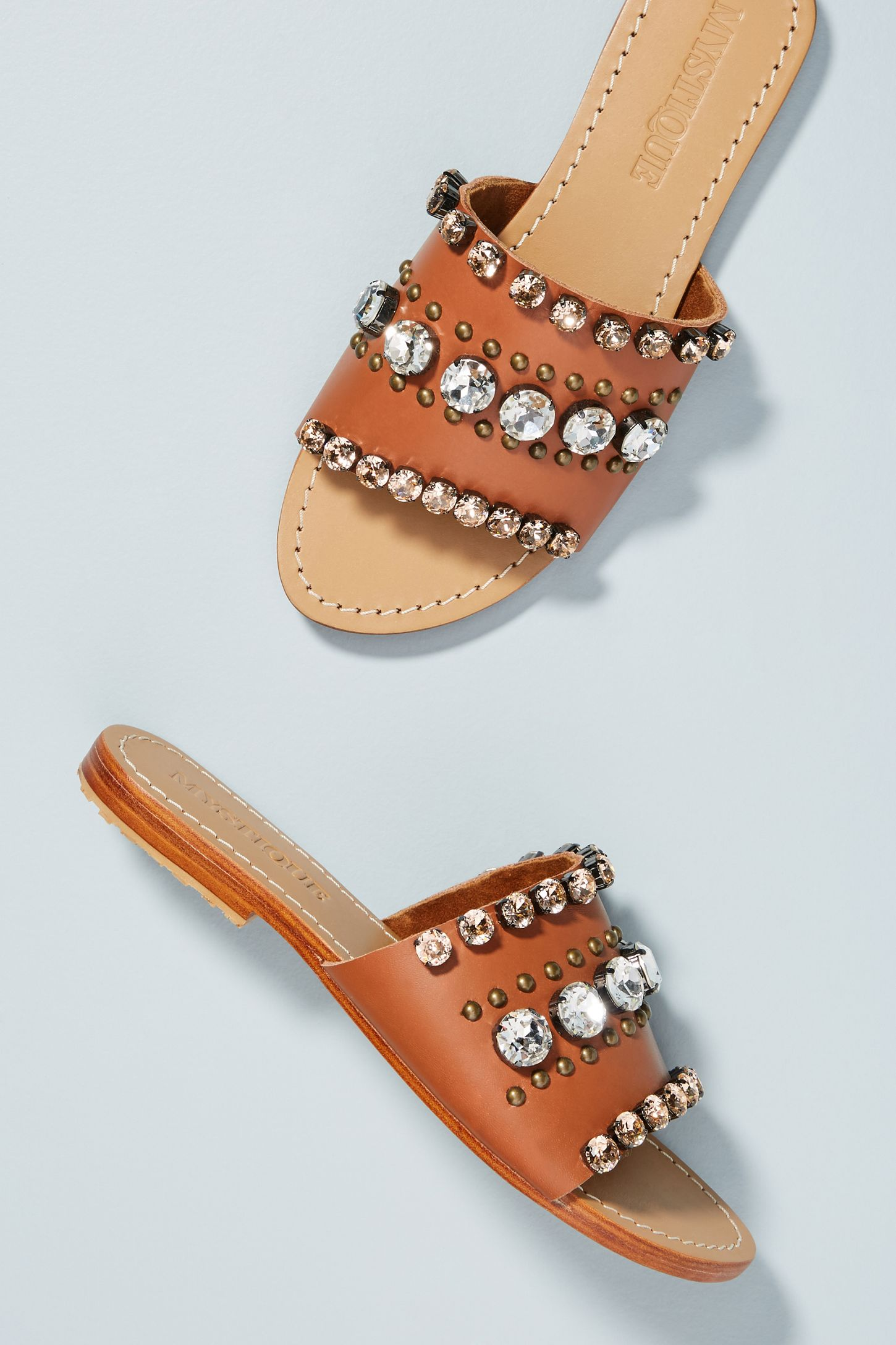 46317924ce44 Mystique Embellished Slide Sandals