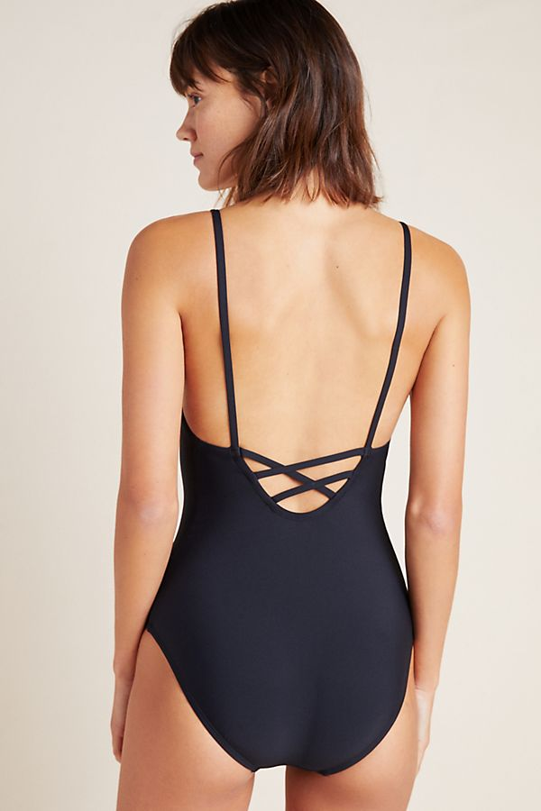 407b499eaa0 Anthropologie Square-Neck One-Piece Swimsuit | Anthropologie