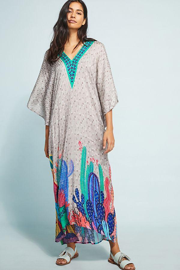 5816294603 Valena Cactus Maxi Dress   Anthropologie