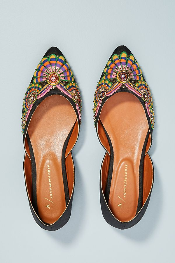 b92641b87c8 Anthropologie Well-Embroidered D Orsay Flats