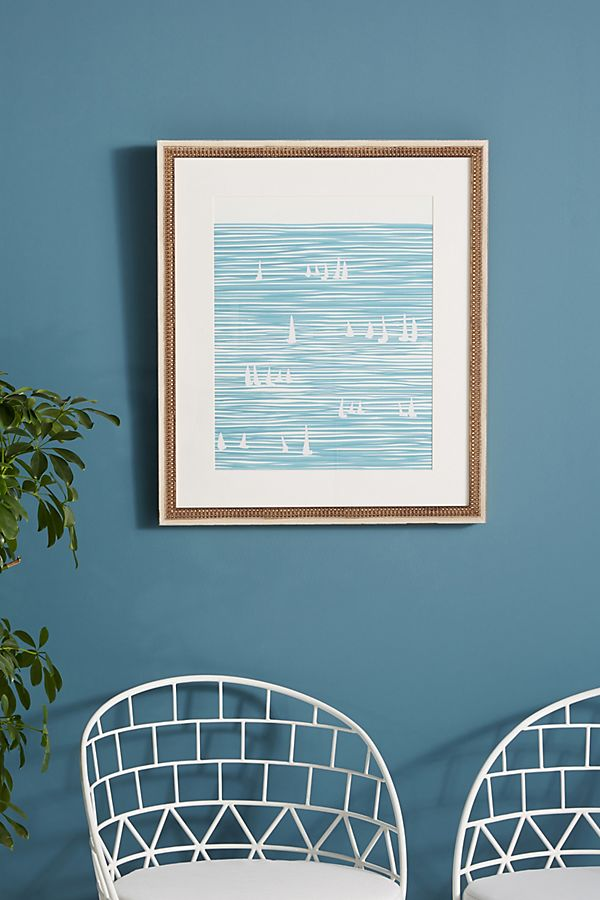 Slide View: 1: Sailboats Wall Art