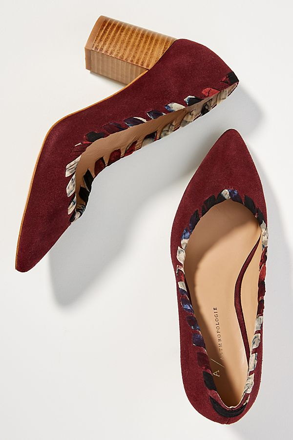 c5ab4a85e9a Anthropologie Whipstitch Block Heels