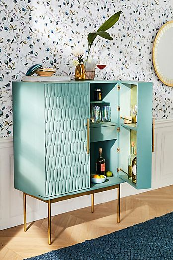 Slide View: 7: Bethan Gray Feather Collection Bar Cabinet