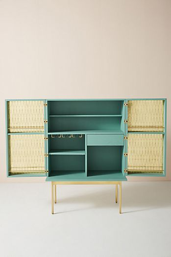 Slide View: 3: Bethan Gray Feather Collection Bar Cabinet
