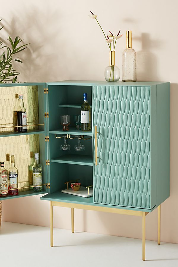 Slide View 1 Bethan Gray Feather Collection Bar Cabinet