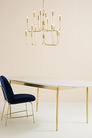 Slide View: 1: Bethan Gray Strike Collection Dining Table