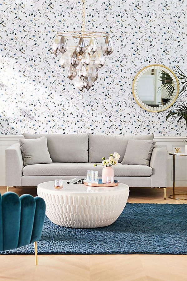Bethan Gray Feather Collection Drum Coffee Table Anthropologie Uk