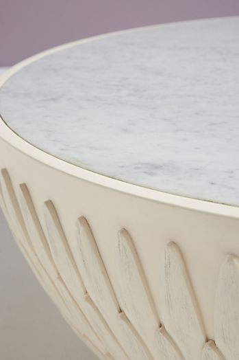 Slide View: 4: Bethan Gray Feather Collection Drum Coffee Table