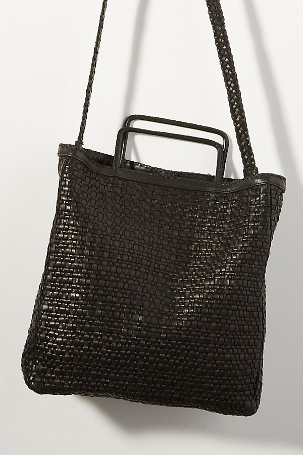En Shalla Woven Leather Tote Bag