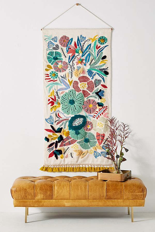 Embroidered Cleo Wall Hanging Anthropologie