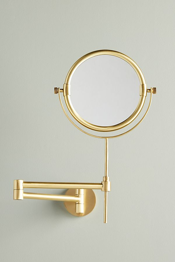 Slide View: 1: Wall-Mounted Makeup Mirror