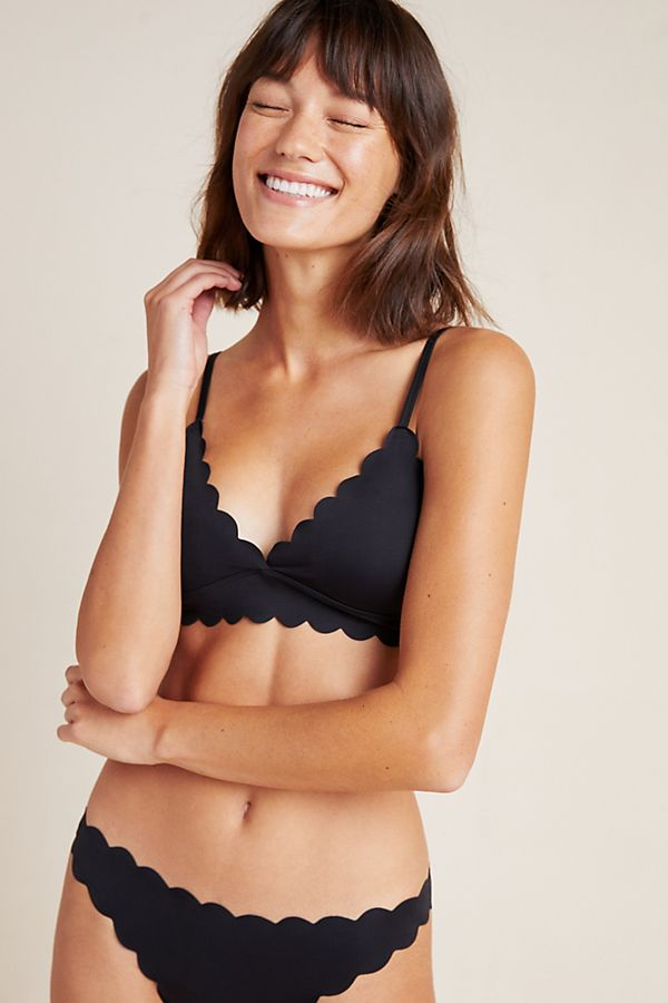 Slide View: 1: Floreat Scalloped Bralette