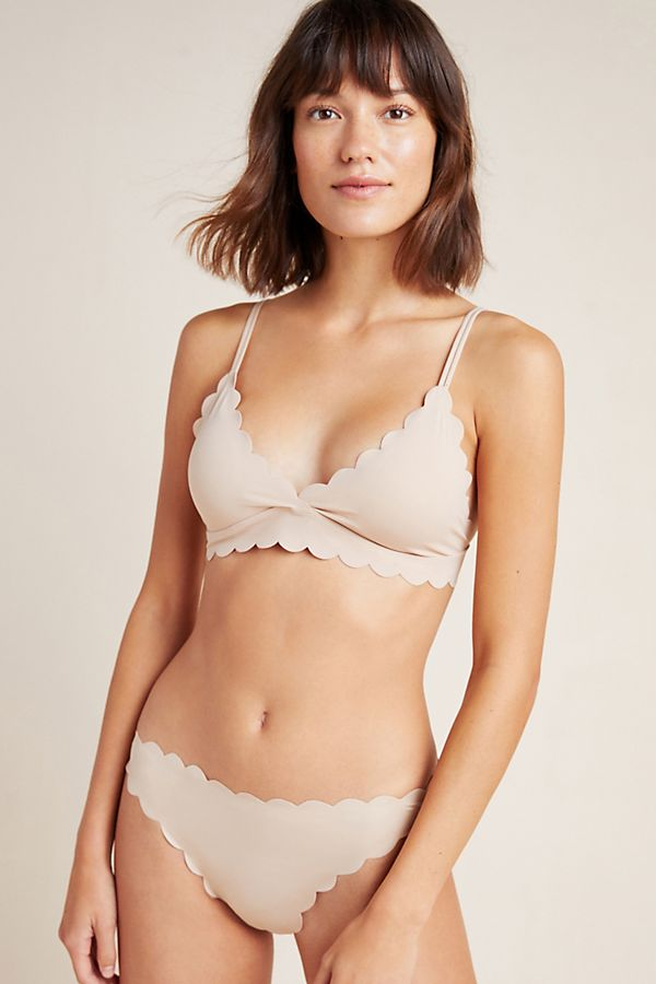 Slide View: 1: Floreat Scalloped Bikini