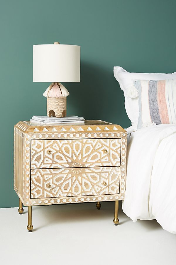 Slide View: 1: Handcarved Albaron Nightstand