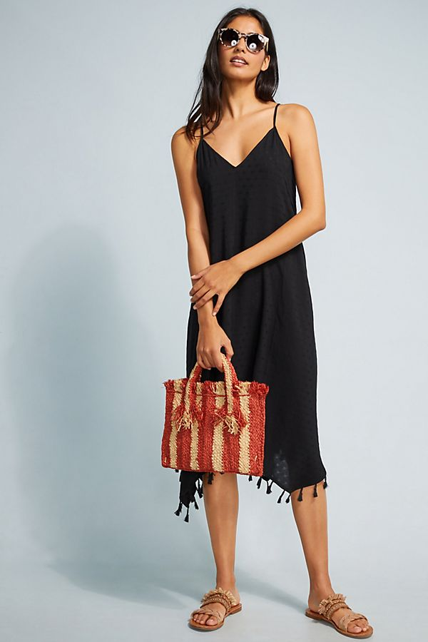 Slide View: 1: Tasseled Cover-Up Dress