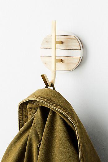 Bathroom Shelves Home Improvement Natural Wood Clothes Hanger Wall Mounted Coat Hook Decorative Key Holder Hat Scarf Handbag Storage Hanger Bathroom Rack Hooks