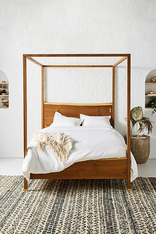 Slide View: 1: Prana Live-Edge Four-Poster Bed