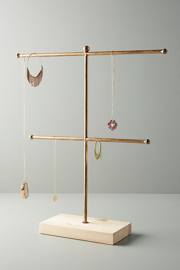 Slide View: 1: Two-Tiered Jewelry Stand