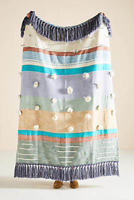 All Roads Woven Baja Throw Blanket by All Roads Design