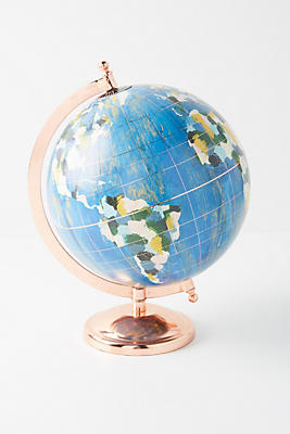 Kayla Nord Wanderlust Globe by Kayla Nord