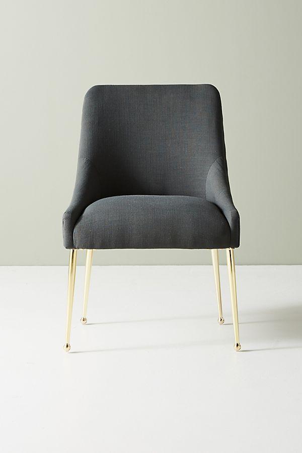 Surprising Montauk Performance Linen Elowen Dining Chair Andrewgaddart Wooden Chair Designs For Living Room Andrewgaddartcom