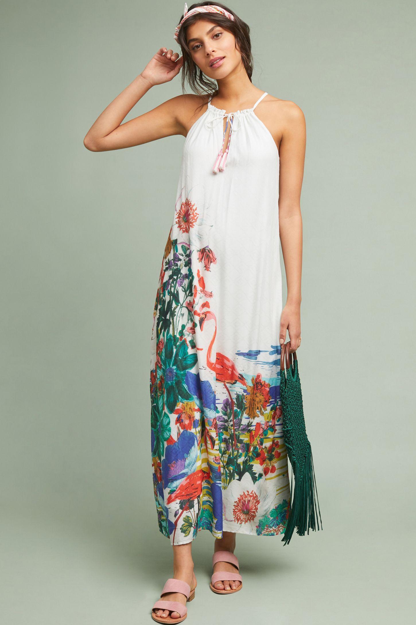 deaf73df3c60 Flamingo Maxi Dress