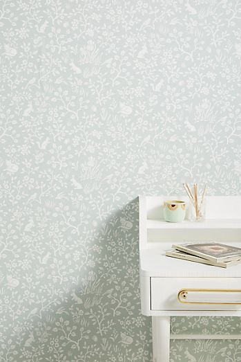 Fox + Hare Wallpaper