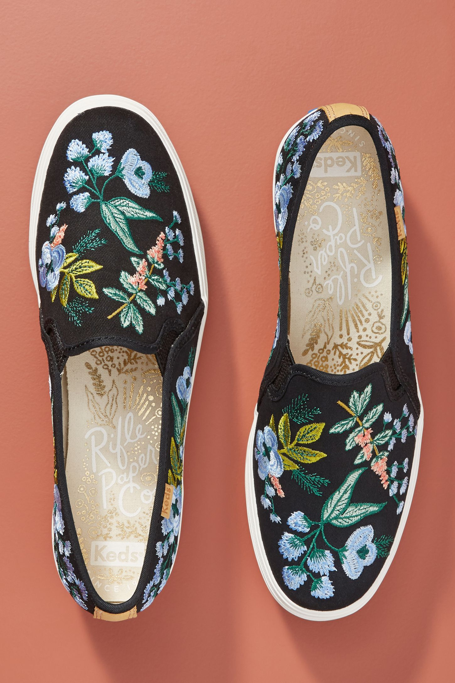 10d8153c862 Keds x Rifle Paper Co. Triple Decker Embroidered Herb Garden Sneakers. Tap  image to zoom. Hover your mouse over an image to zoom. Double Tap to Zoom