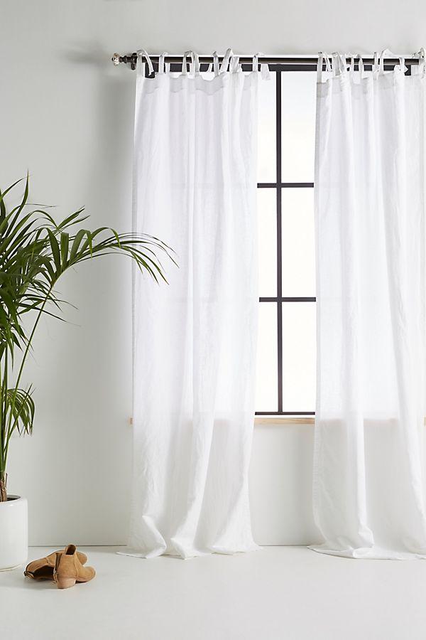 Slide View: 1: Cotton-Linen Curtain